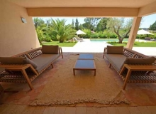Rent Villa Angelia St Tropez - outside sofas