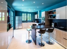 villa for rent route des plages st tropez elegante kitchen