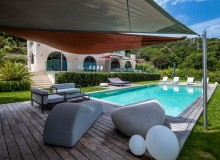 villa for let route des plages st tropez elegante swimming pool